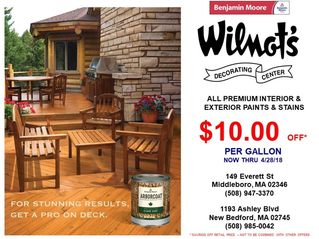 Wilmont Design Centers, New Bedford, Middleboro, MA.SPRING 2018 PROMO