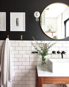 Art featured in minimalist bathroom