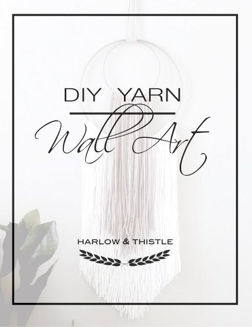 DIY Yarn Wall Art for Scandinavian Minimalism