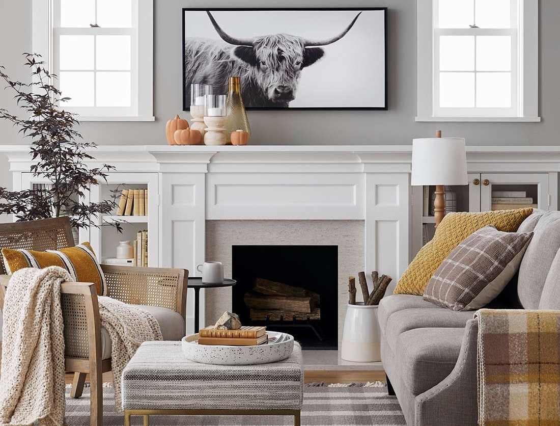 Living room design by Target for autumn