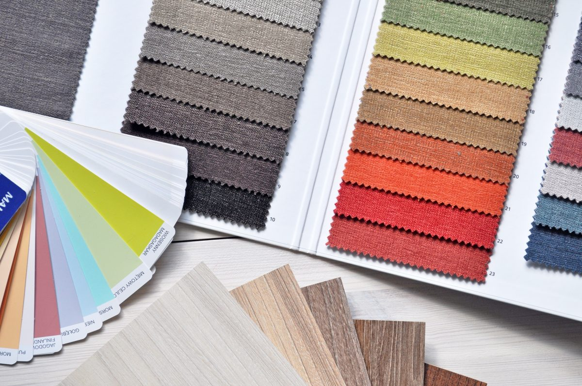 Interior designer color swatches
