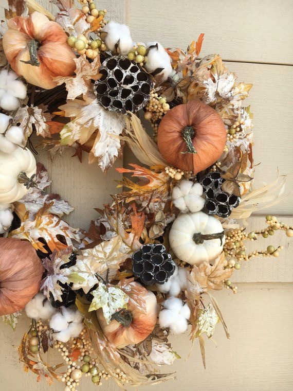 Natural elements for modern rustic wreath