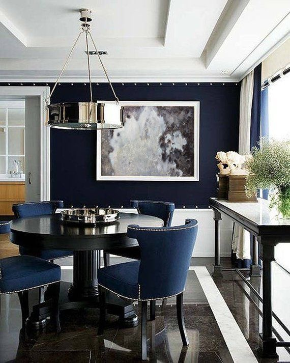 Dining room interior design focal point