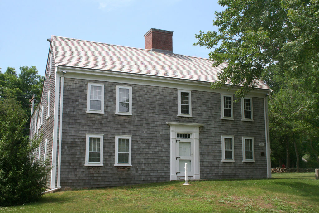 Example of Georgian Colonial homes. The Josiah Dennis House in Dennis, Massachusetts