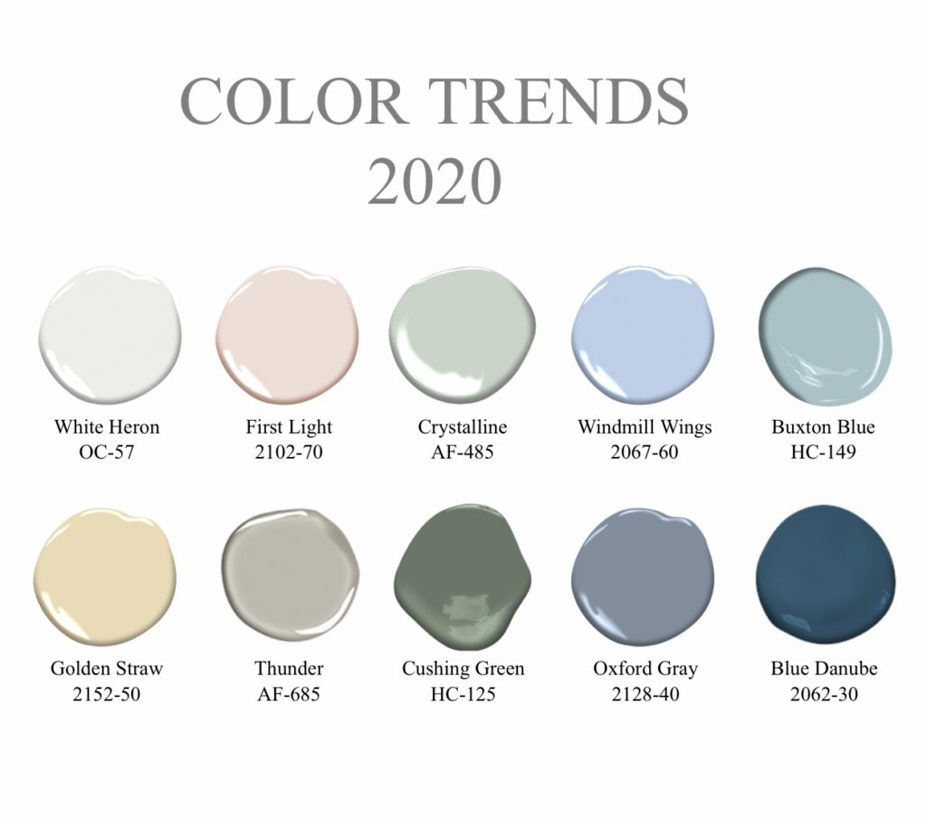 Color trends 2020 full palette ten colors