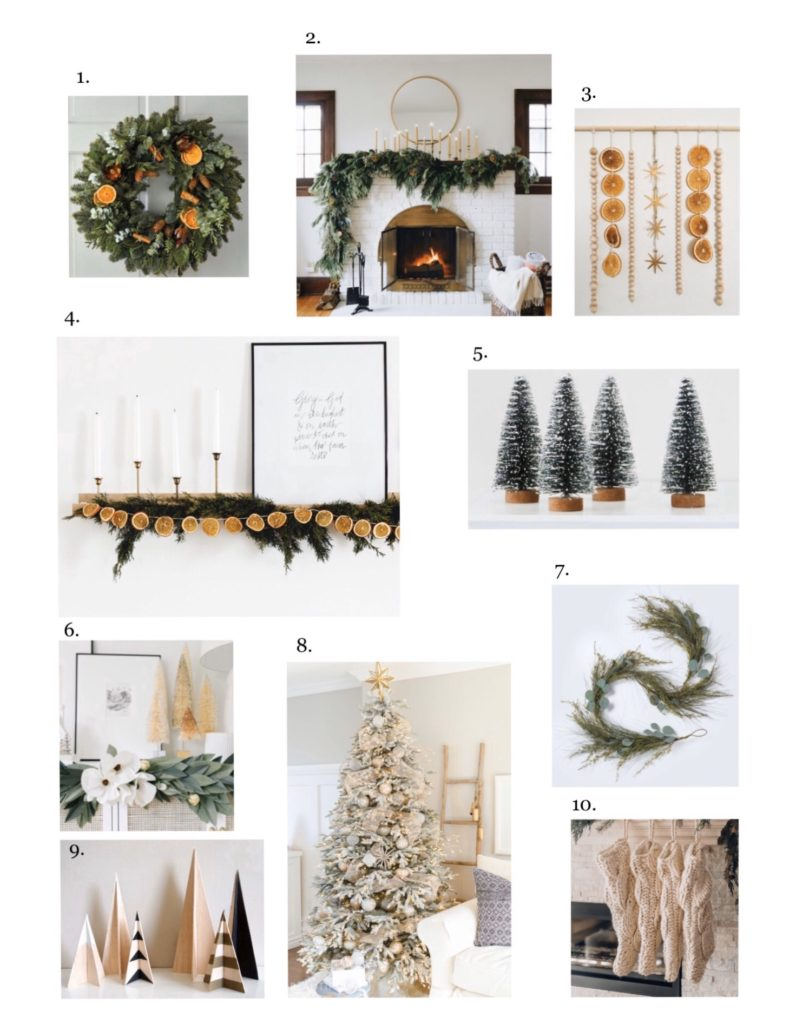 Modern holiday decor collage