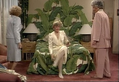 Blanche Devereaux's iconic banana leaf wallpaper
