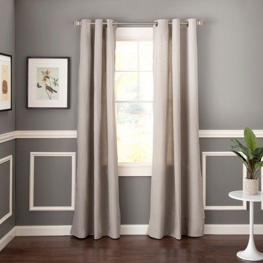 Curtain rods hung improperly, neutral curtains, transitional home