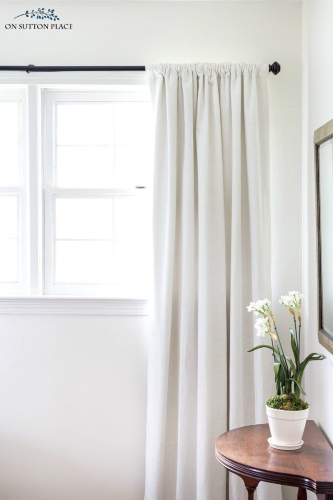 The wrong way to hang curtain rods